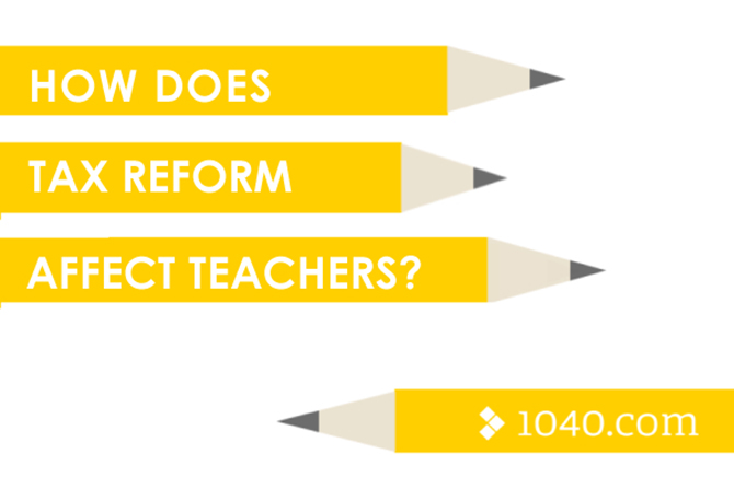 Illustration of tax reform for teachers
