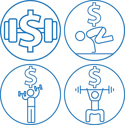 The four Budget Bootcamp icons together