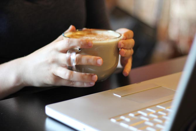 Coffee helps when you file your taxes with 1040.com.