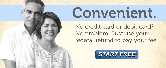 Convenient - Use your federal refund to pay your fee